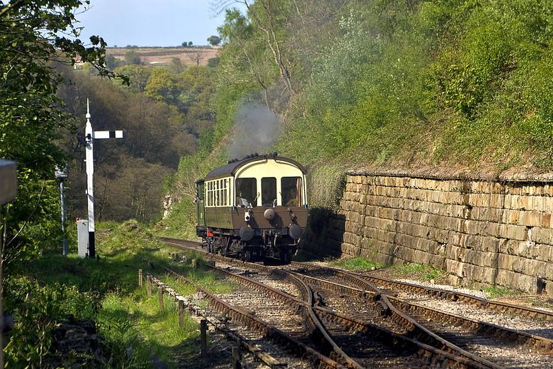 "LNER J72 68027 ""Joem"" trundles down hill away from Goathland. AKA Aidensfield"