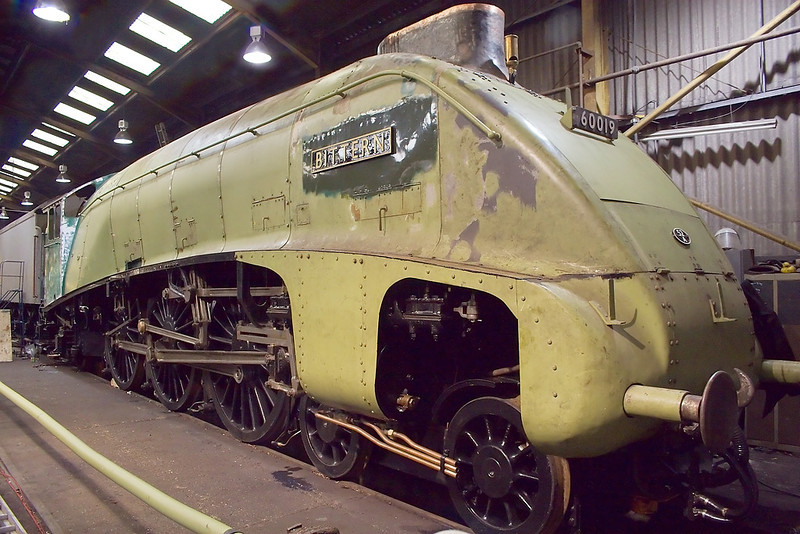 3rd Mar 07: LNER A4 Pacific 60019 Bittern looks nearly complete