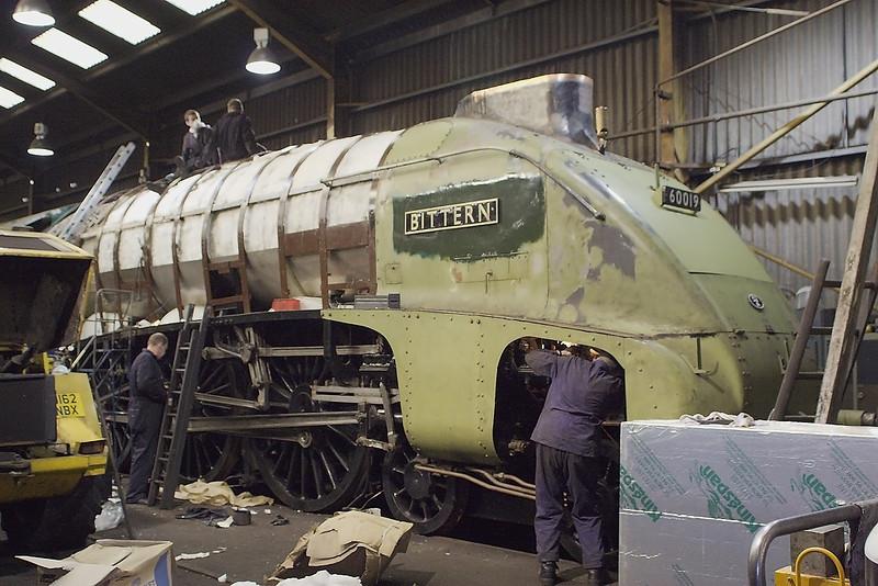 21st Jan 07:  Bittern having it's lagging clad in Stainless Steel