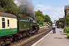 2nd Jun 07:  The BR Standard Class 5 73096 stops at Ropley