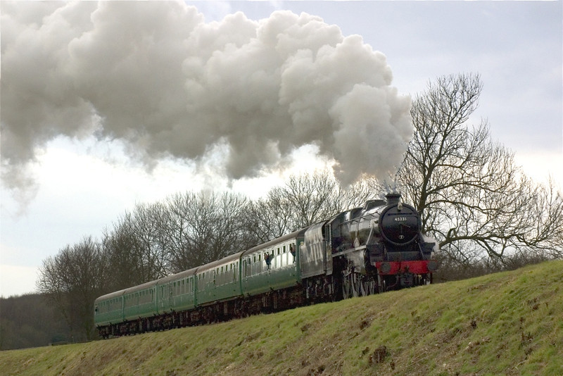 13th Mar 05: 45231 twixt Ropley and M 4 M