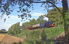 1st Sep 85:  31874 rumbles downhill towards Ropley
