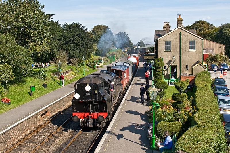 21st Sep 08:  Recreateting the past as a short goods rumbles through the station