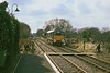 15th Mar 86:  Newly repainted into the original livery D5217 runs round at Medstead & Four Marks