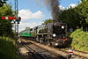 7th Jul 07: 35005 Canadian Pacific masquerading as 35008 Orient Line arrives at Ropley