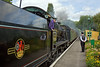 29th Aug 11:  31806 on the tender first leg from Alton to Arlesford runs into Medstead & Four Marks.