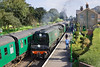 27th Sep 09:  34007 'Wadebridge' and the 10.50 from Alton arrives at Ropley