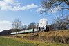 15th Jan 12:  Southern 'U' class mogul 31806 steadily climbs the bank at North Street between Ropley and Medstead & Four Marks