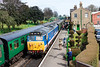 14th Apr 13:  Lion at Ropley.  The 2nd man decided to decamp to dash and get a sandwich at just the wrong moment!