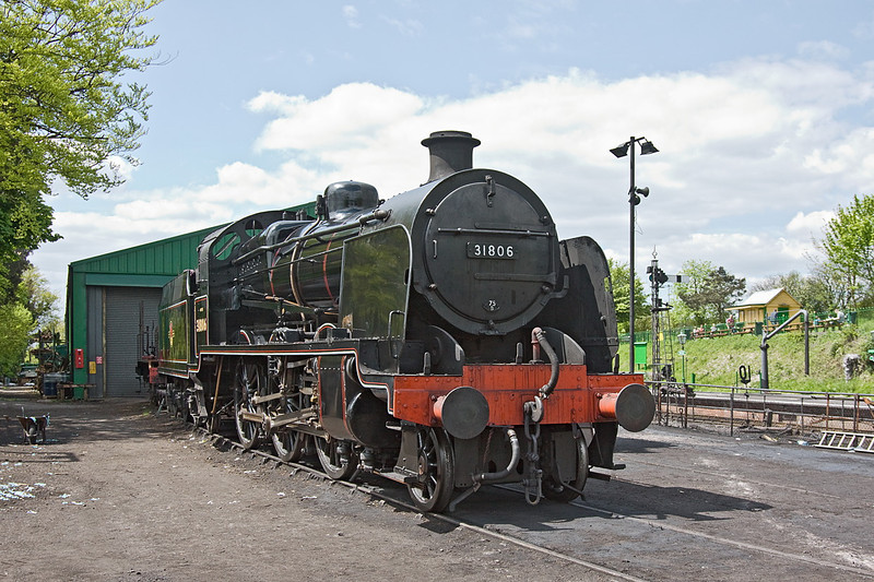13th May 12:  Just back from a weekend away at the Didcot Railway Centre is 'U' Class 2-6-0  31806.
