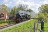 13th May 12:  Running down to Arlesford is LMS Black 5 45379 to be ready to take the first morning service to Alton