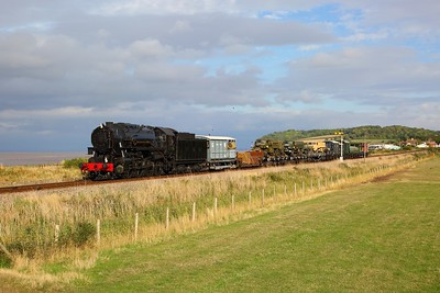 USA 6046 on the 1350 Norton Fitzwarren to Minehead at Blue Anchor on the 16th September 2018