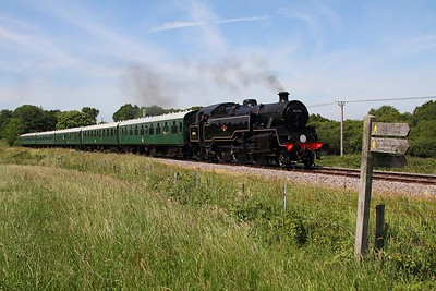 80104 renumbered as 80146 powers the 1440 Norden to Swanage departing Norden on the 14th June 2017