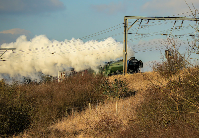 """60103 """"Flying Scotsman"""" at Holme (February 2016)"""