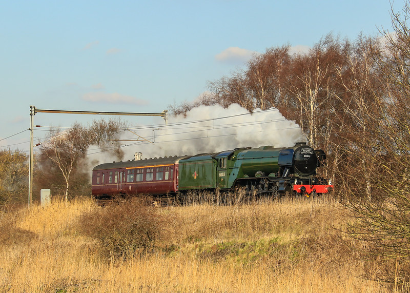 "60103 ""Flying Scotsman"" at Holme (February 2016)"