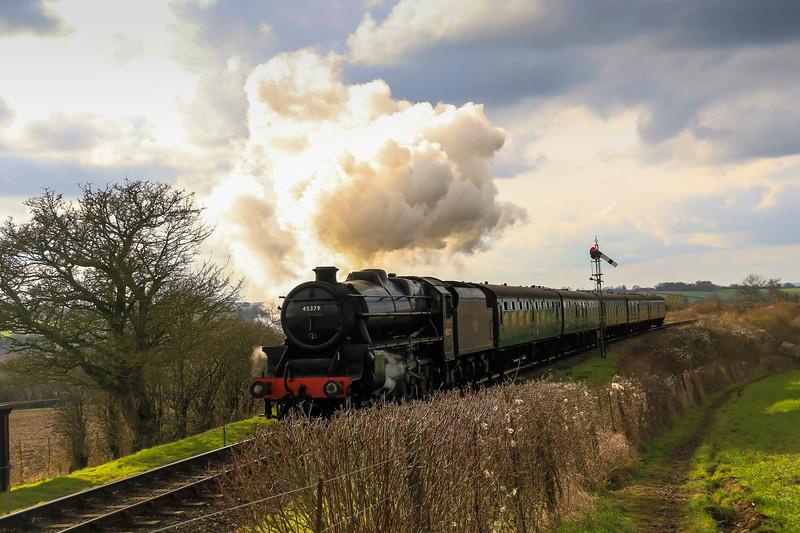 45379 LMS Black 5 - Mid Hants (Watercress Line) Spring Gala (February 2016)