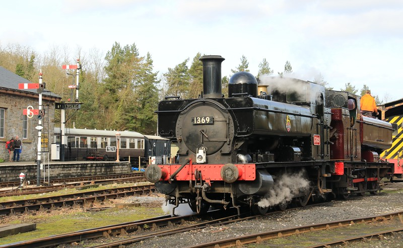 1369 GWR 1366 Class - South Devon Railway Spring Gala (February 2016)