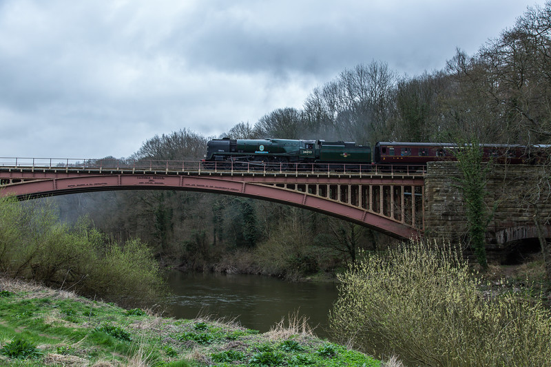 34053 Sir Keith Park - Southern Railway SR Battle of Britain Class - Severn Valley Railway (March 2017)