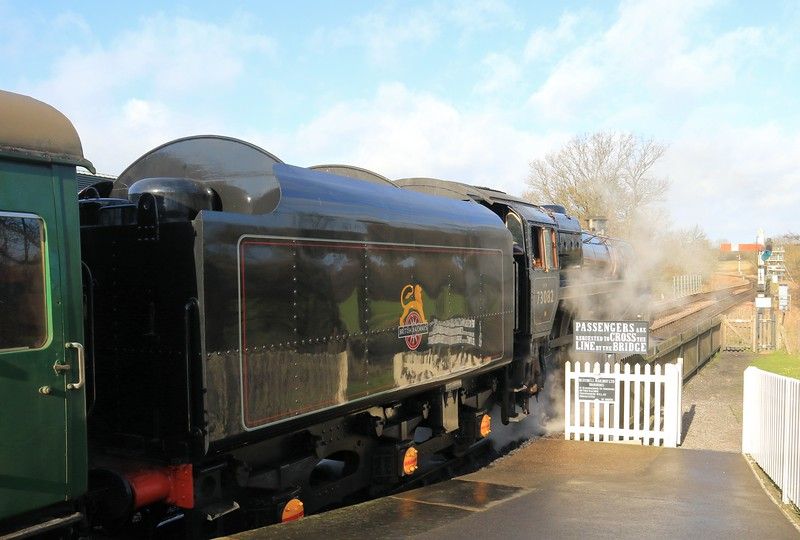 73082 BR Standard Class 5 -The Bluebell Railway (February 2016)