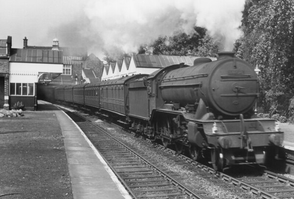 61852 Wibraham Rd stn June 1954 on the former Fallowfield Loop line from Manchester Central via Chorlton-cum-Hardy Gresley K3