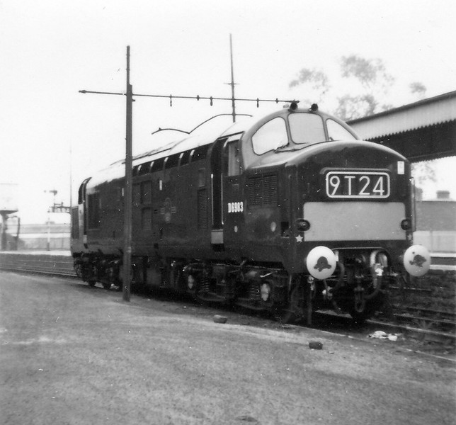 D6983 Merthyr Station D6983 was the engine written off in the crash at Bridgend on 17/12/1965 which also lead to the scrapping of a Brush 4 (47).