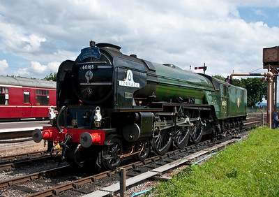 60162 takes water at Bishops Lydiard.