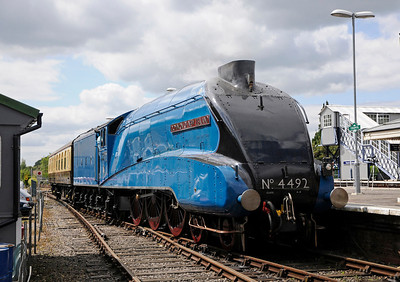 09/08 4492 is prepared at the Yeovil Railway Centre to haul a Weymouth - London train later in the day.