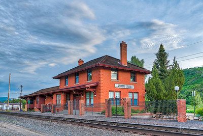 The Historic Steamboat Springs Train Depot.