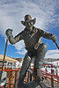 Billy Kidd statue in Gondola Village, Steamboat, CO.