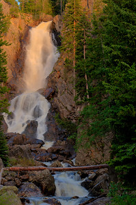 Fish Creek falls late afternoon