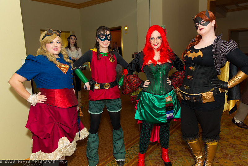Supergirl, Robin, Poison Ivy, and Batgirl