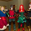 Supergirl, Robin, Poison Ivy, and Batgirl