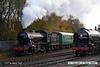 071111-007     LNER Gresley K4 2-6-0 no 61994 The Great Marquess passes by with the Barrow Hill passenger shuttle.