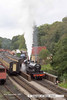 070915-032     Somerset and Dorset 2-8-0 no 53809 stands at Goathland with the 14.50 Grosmont to Pickering.