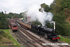 070915-039     Somerset and Dorset 2-8-0 no 53809 makes a dramatic departure from Goathland with the 14.50 Grosmont to Pickering.