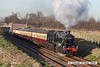 070203-030     LMS Stanier 5MT 2-6-0 no 42968 is seen passing Woodthorpe with a Loughborough to Leicester North passenger service.