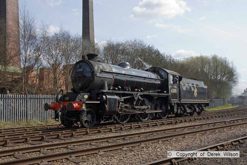 090405-029     LNER K1 4-6-2 no. 62005 Lord of the Isles, seen at Barrow Hill.