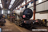 121014-013     LMS (SDJR) 7F 2-8-0 no. 53809, well some of it!!. Seen is the boiler/firebox & smokebox which are all looking swell, hopefully it will not be too long before we see it back together & in action again. The image was captured at Swanick.