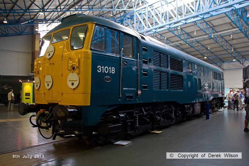 130709-087     Brush type 2 D5518, seen in it's 'TOPS' guise as class 31 no 31018. NRM, York.