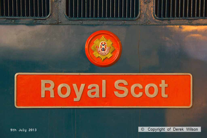 130709-039     Namplate of class 87 electric no 87001 Royal Scot.