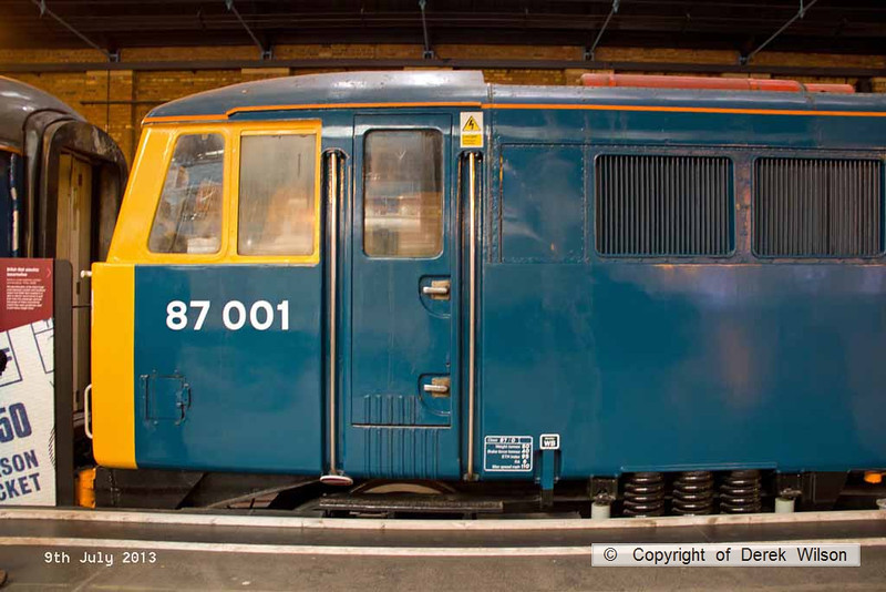 130709-040     Class 87 no 87001 Royal Scot, at the NRM, York.