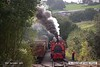 160925-067  Bagnall 0-4-0 saddle tank no 2, chucking out the clag as it sets off for Dilhorne.