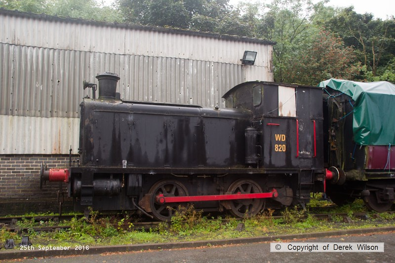 160925-001  Drewry 0-4-0DM, works  no 2157, built to an original design by Andrew Barclay, one of Forty built for the Ministry of Supply during the Second World War. It carried several identities, including WD 30, WD 123 & WD 820. It's claim to fame is that it took part in the Normandy landings as part of the Allied Invasion of occupied France in 1944. Seen at Caverswall Road.