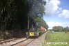 160925-098  Dubs 0-4-0 crane tank no 4101 is seen leaving Dilhorne, at the rear of a demonstration freight. Thomas Hill 4 wheel diesel hydraulic no 111C can just be seen leading the ensemble back down the bank to Foxfield..