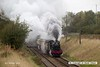 161008-009  Great Western Railway Hall 4-6-0 no 6990 Witherslack Hall passes Woodthorpe, powering the 09.45 Loughborough to Leicester North.