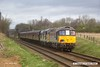 170319-005  Class 33 No 33065 R. J. Mitchell & class 37 No 37714 Cardiff Canton are captured passing Woodthorpe, double heading the 09:45 Loughborough - Leicester North.