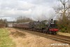 170128-055  LMS 2MT 2-6-0 No 46521 & BR standard 2MT No 78018 are captured passing Woodthorpe with the 12:45 Loughborough - Leicester North.