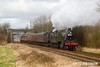 170128-053  LMS 2MT 2-6-0 No 46521 & BR standard 2MT No 78018 are captured passing Woodthorpe with the 12:45 Loughborough - Leicester North.