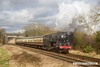 170128-039  BR Britannia 4-6-2 No 70013 Oliver Cromwell storms past Woodthorpe with the 12:00 Loughborough - Leicester North.