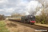 170128-040  BR Britannia 4-6-2 No 70013 Oliver Cromwell storms past Woodthorpe with the 12:00 Loughborough - Leicester North.